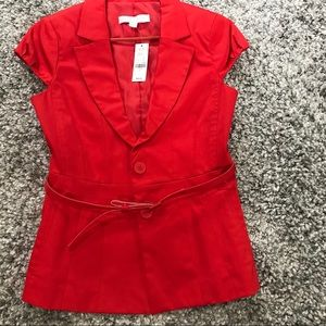 Red belted blazer NY&co size 4 small NWT